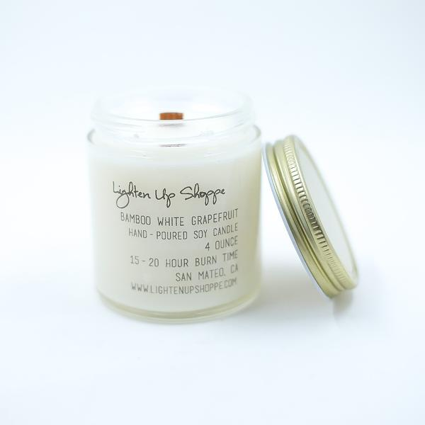 Bamboo White Grapefruit Soy Candle
