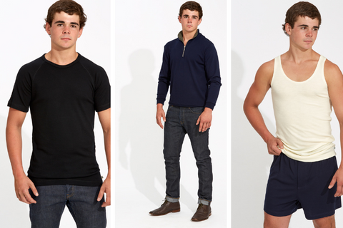 Christmas gift ideas for men. Australian Made, Australian Merino.