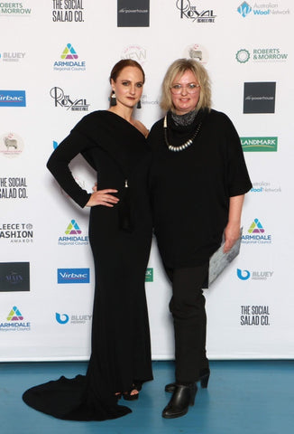 Woolerina Merino wool interlock fabric in winning Fleece to Fashion design awards