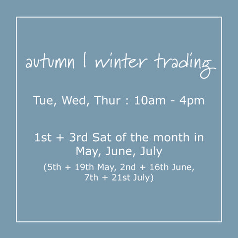 Shop in-store at Woolerina this winter, view our trading hours