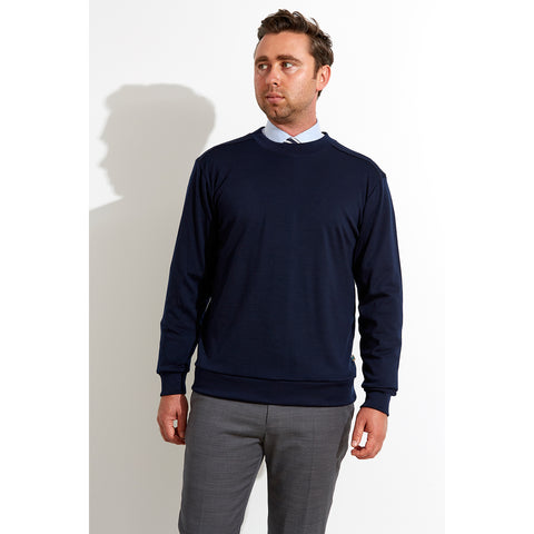 Mens Australian Made Merino Jumper Navy