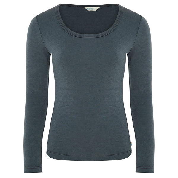 SALE Womens Long Sleeve Scoop Neck