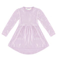 Kids Merino Wool Dress with Hakea Print Lilac