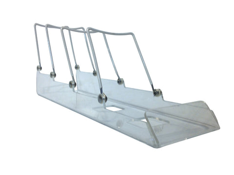 "4-Tier Adjustable Display Sled, 4"" wide, 5-3/4"" tall, 15"" deep"