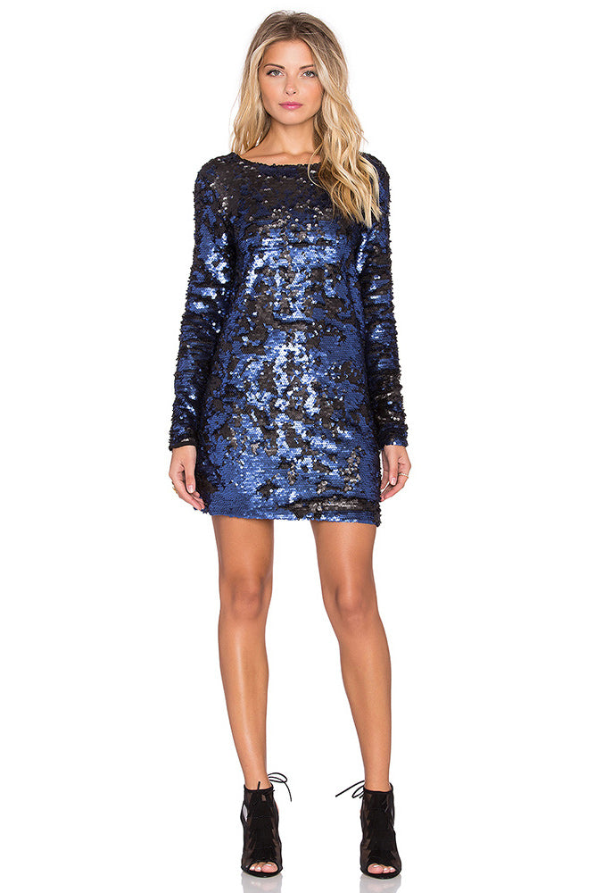 MINKPINK GREAT ESCAPE SEQUIN DRESS