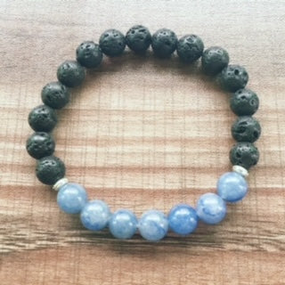 Lava Stone & Blue Quartz Transformation Bracelet