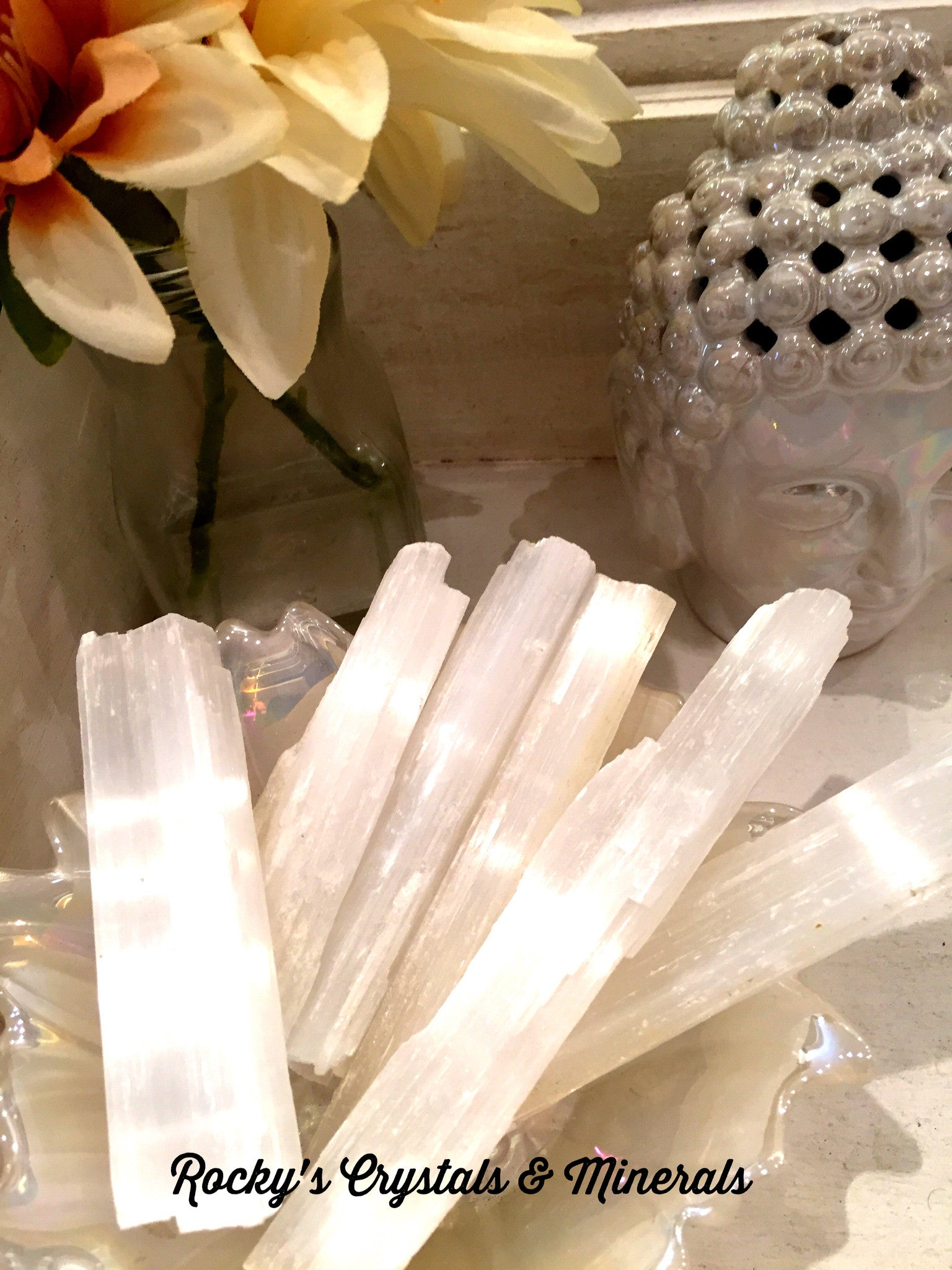 Large Moroccan Selenite Stick