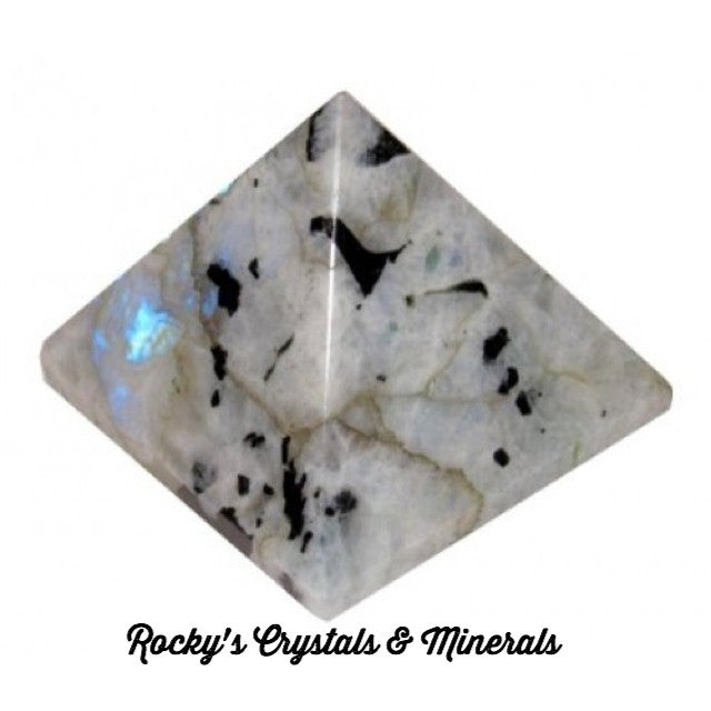 "Rainbow Moonstone Pyramid 1"" size each"