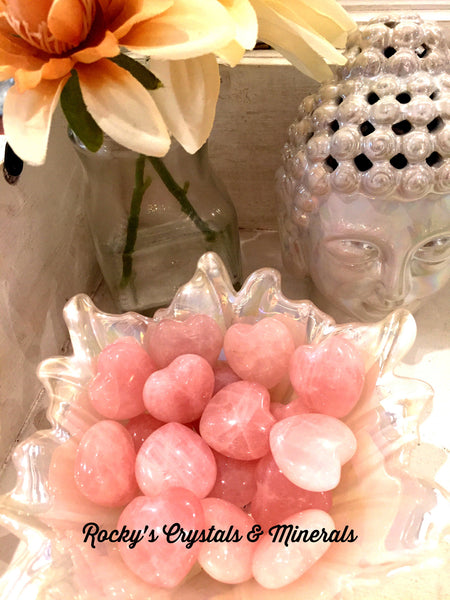 Brazilian Tumbled Rose Quartz Heart