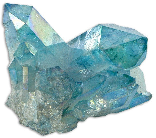 Rough Aqua Aura Quartz Cluster from Brazil 2 sizes