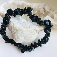 Black Obsidian Chip Protection Bracelet (Mexico)