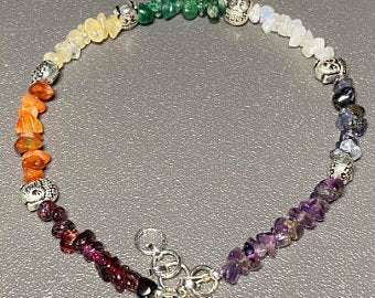 Beautiful Seven Chakra Gemstone Anklet