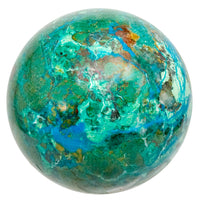 Polished Beautiful Peruvian Chrysocolla Sphere with Stand