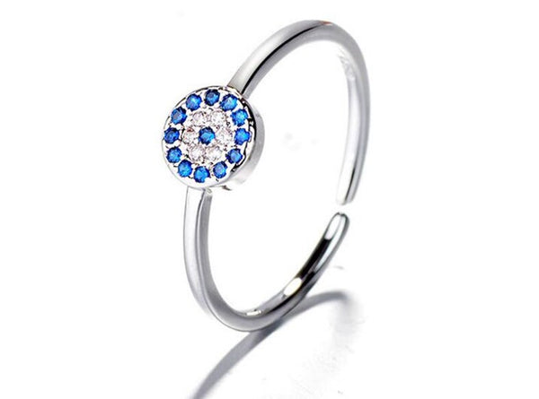 Evil Eye Adjustable Protection Ring