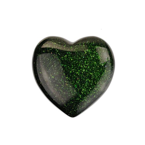 Small Green Goldstone Heart
