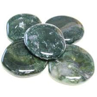 Green Moss Agate Palm Stone