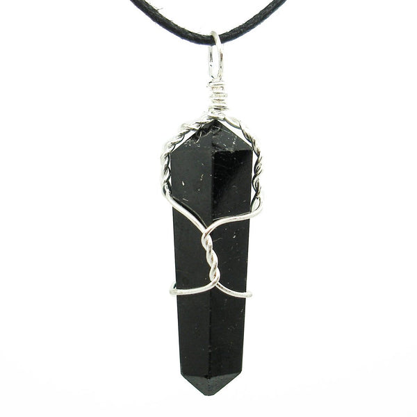 Black Tourmaline Wire-Wrapped Necklace