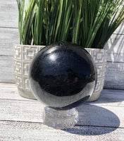 Large Brazilian Black Tourmaline Sphere