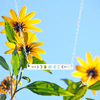 Cute Moon Phase Minimalist Necklace