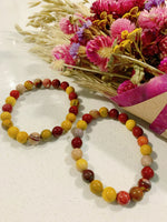 Medium Australian Mookaite Jasper Beaded Bracelet