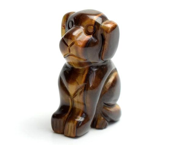 Cute Tiger Eye Dog Statue