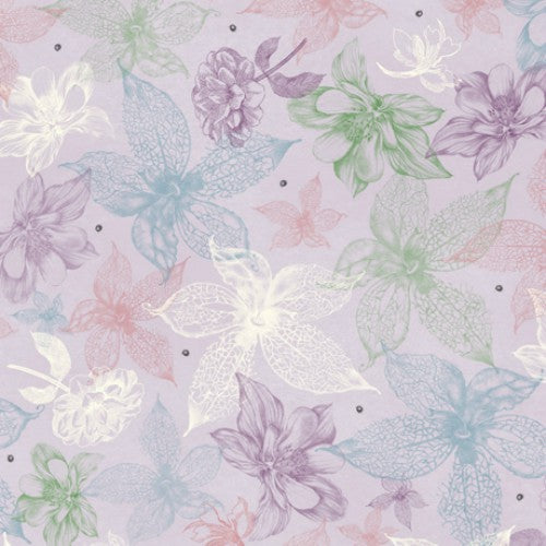 Midnight Garden Floral Purple