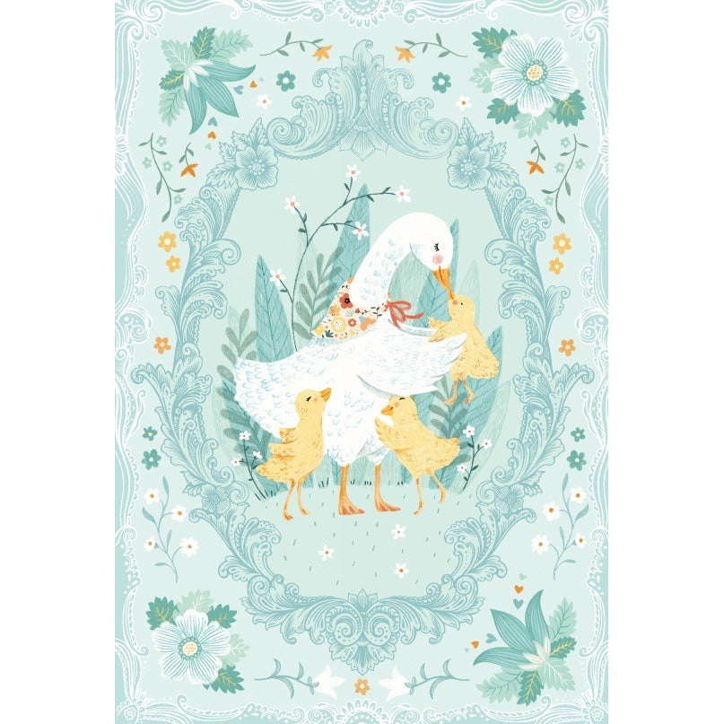 Ducky Tales Panel Blue