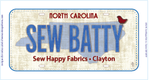 2016 Row by Row Fabric Plate - Sew Batty