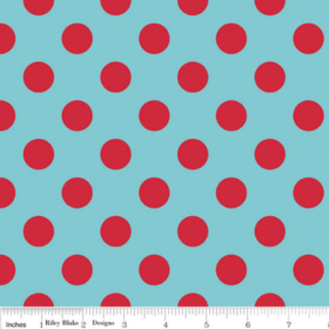 Medium Dots- Blue Red