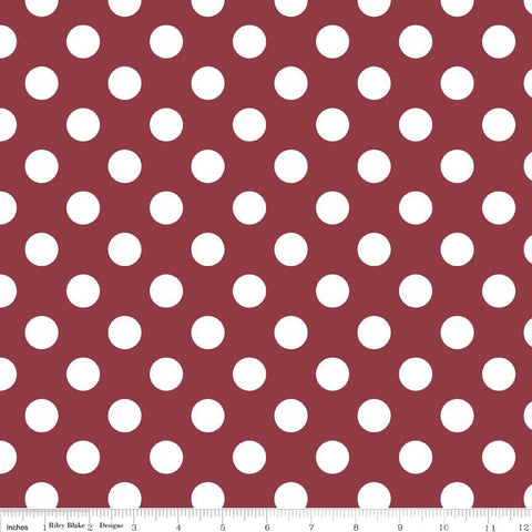 Medium Dots- Burgundy