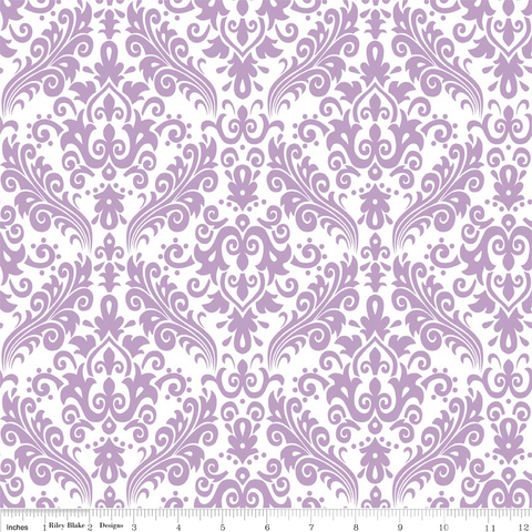 Damask- Purple