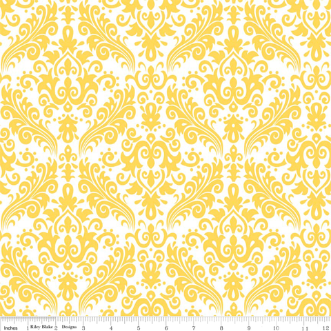 Damask- Yellow