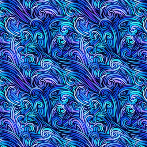 Sea Serenade Blue Swirl