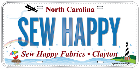 Fabric License Plate