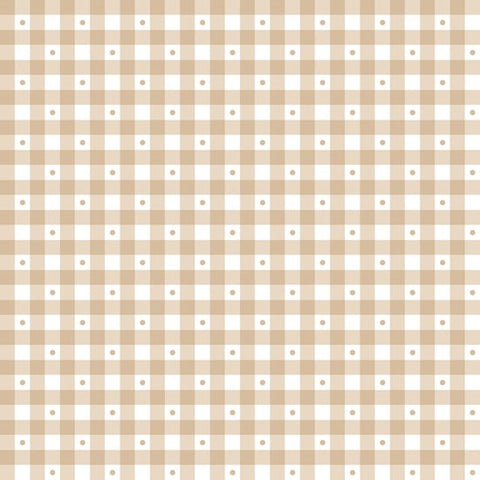 Gingham - Light Taupe