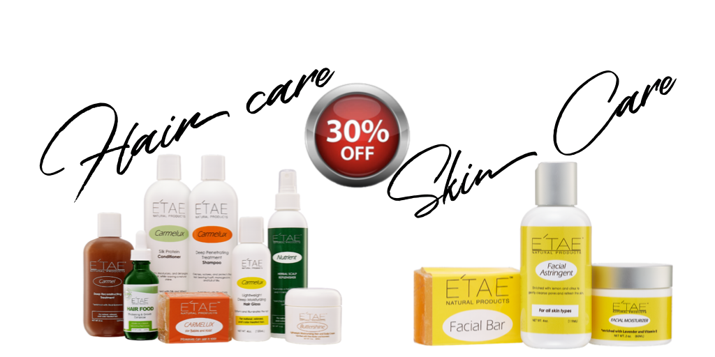 30 % off E'TAE HAIR CARE PRODUCTS