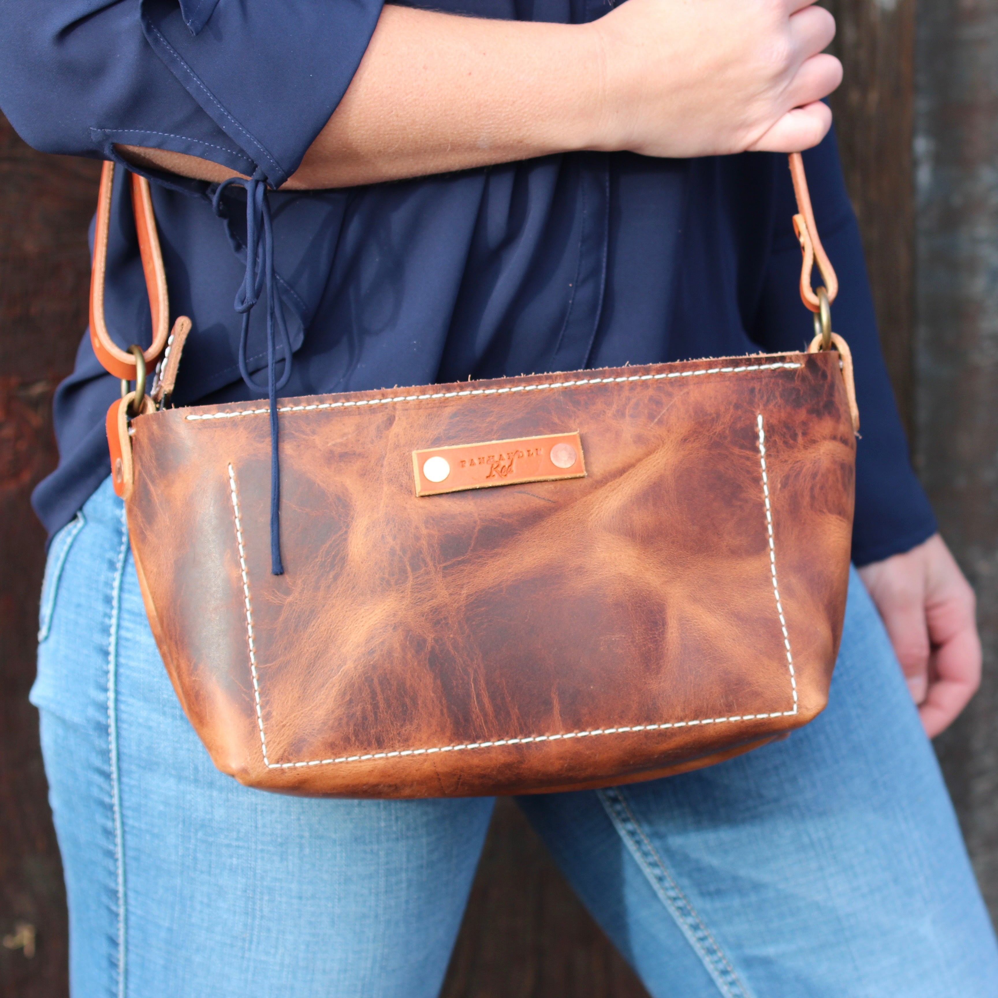 Brown Leather Crossbody Purse, Leather crossbody purse, crossbody purse, Panhandle Red Company, Leather Goods, Handbags, Leather Totes, Leather Duffles, Leather Bags,  Purses, Everyday Carry Needs, and more. Full-grain leather items, custom gifts, all Handcrafted in Idaho, USA.