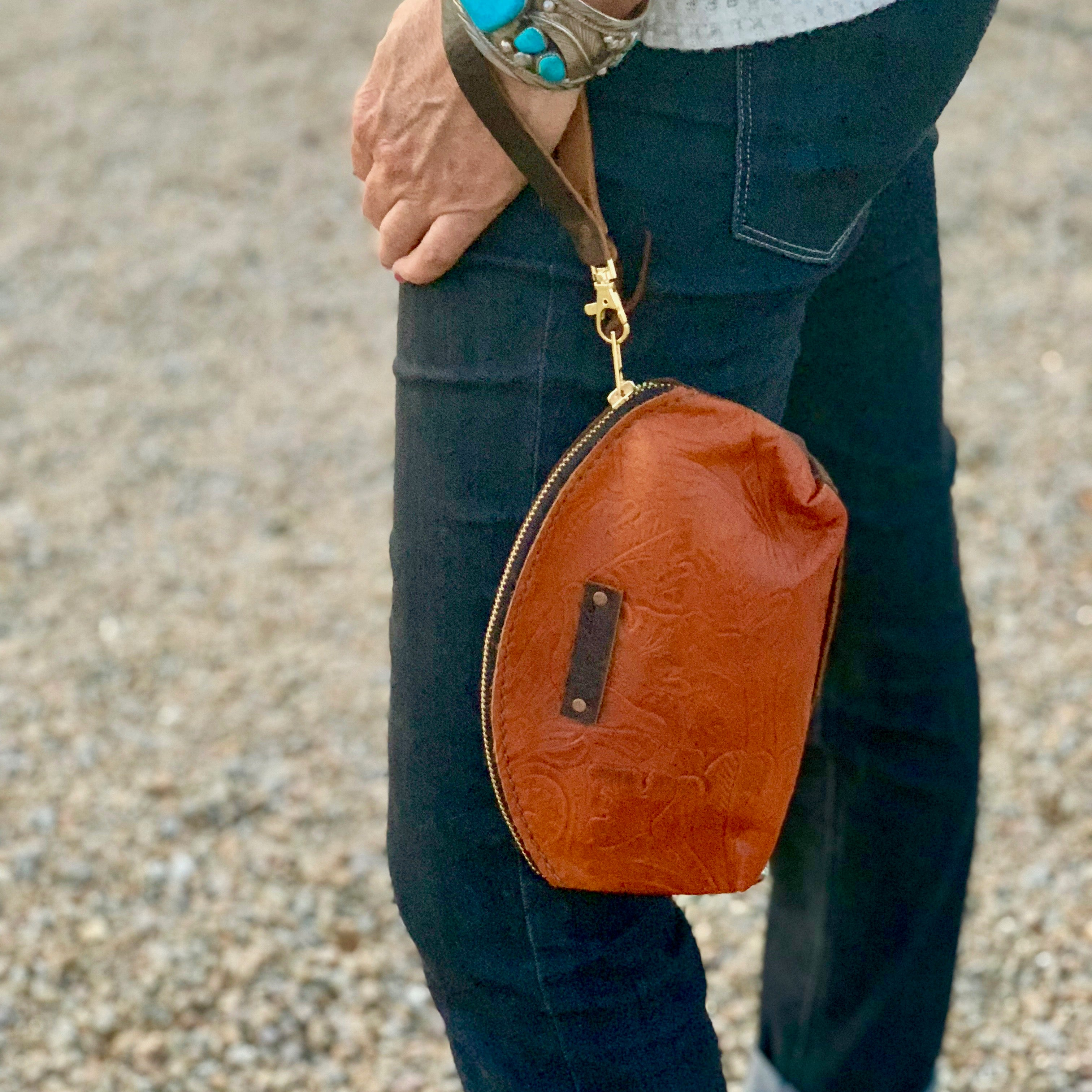 Canfield Leather Leather Clutch-Two Tone Rusty Sheridan