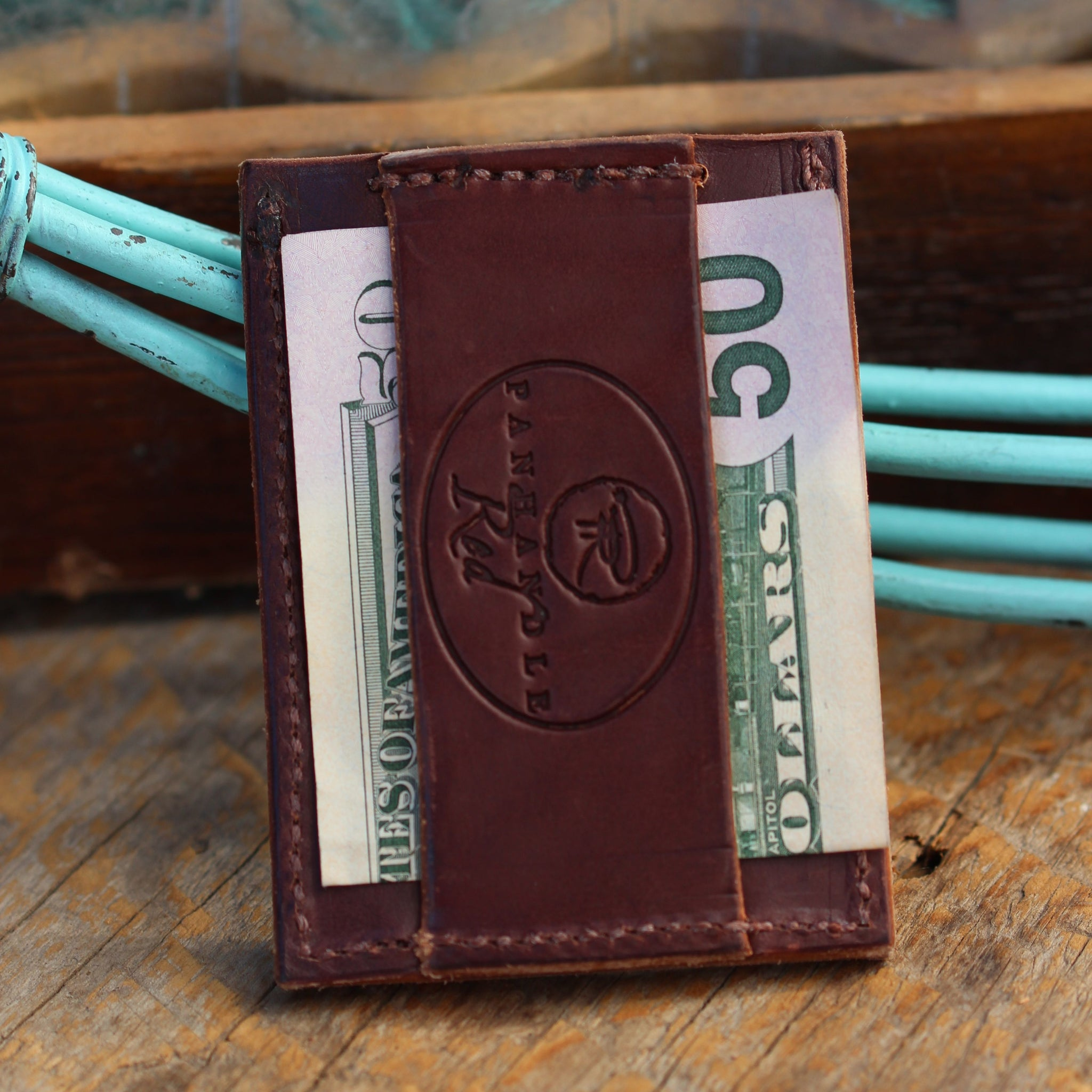 Men's Minimal Wallet- Walnut Lizard