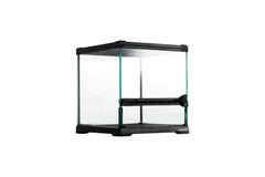 "REPTIZOO -RHK18S-8""x8""x8""-Reptile Glass Terrarium - Single Hinge Door"