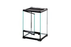 "REPTIZOO -RHK19S-8""x8""x12""-Reptile Glass Terrarium - Single Hinge Door"