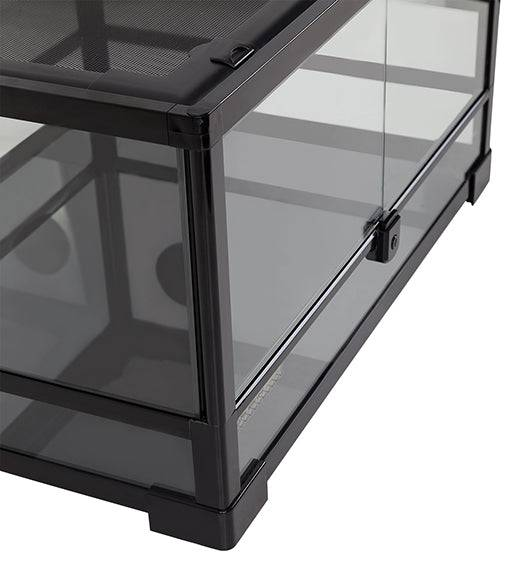 "REPTIZOO -RK0117-24""x 18""x12""-Knock Down-Reptile Glass Terrarium - Double Hinge Door"