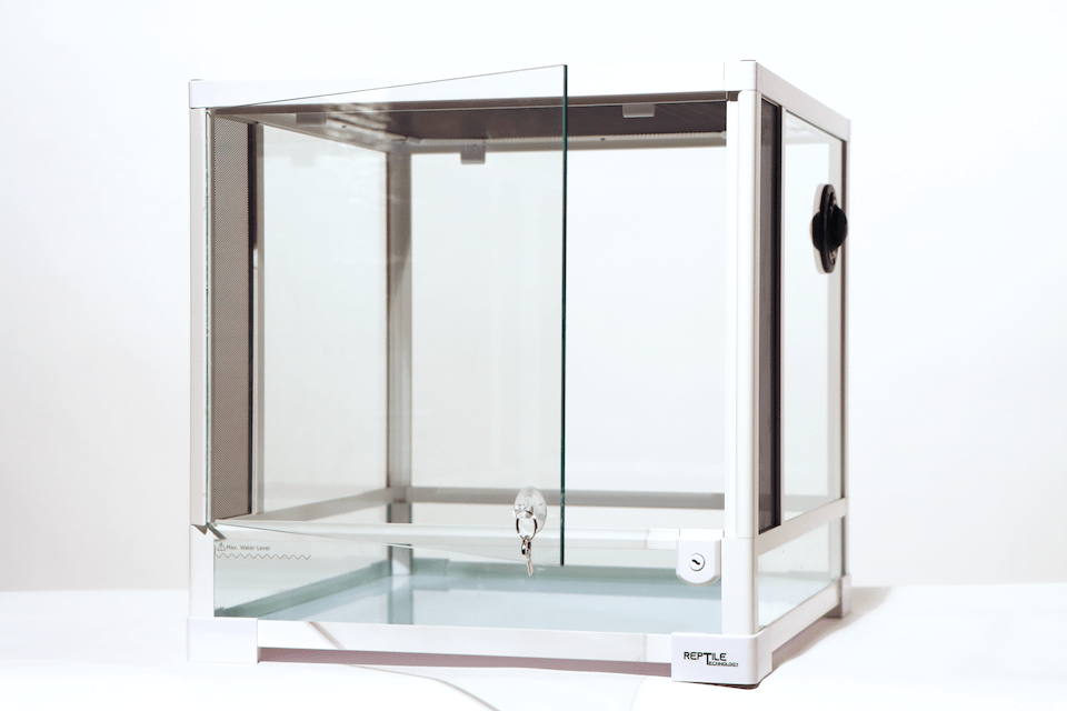 "Reptile Technology - Reptile Glass Terrarium - Single Hinge Door - 18"" X 18"" X 18"" (RK0105SW)"