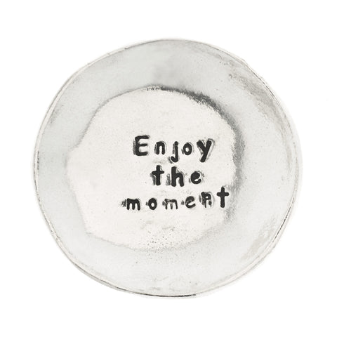 Enjoy the Moment Small Pewter Trinket Dish