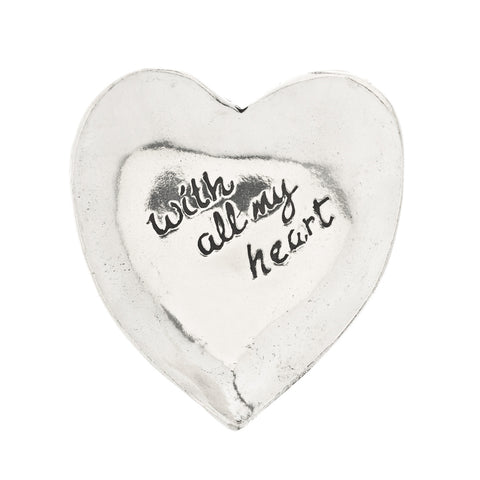 With All My Heart Pewter Trinket Dish