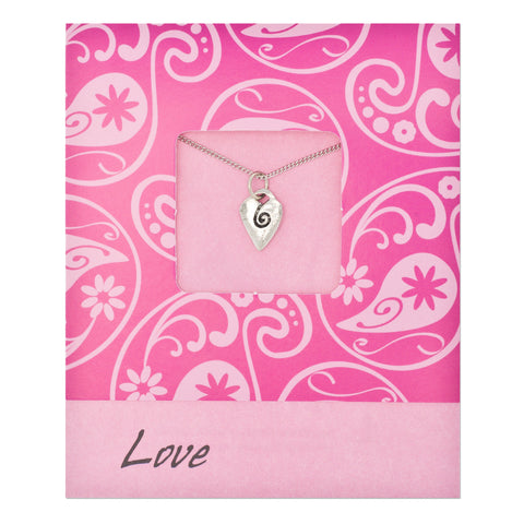 Love Heart Pendant Charm Necklace