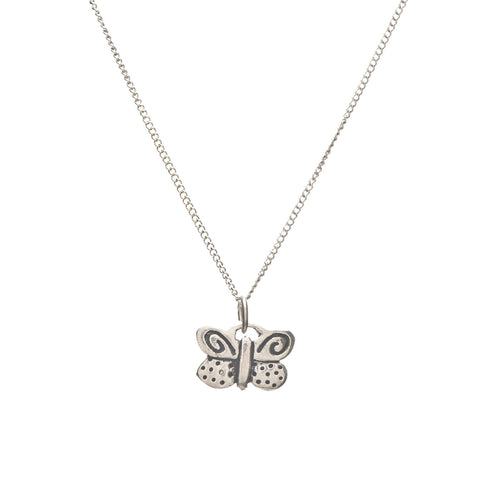 Pewter Butterfly Charm Necklace on Friends Card