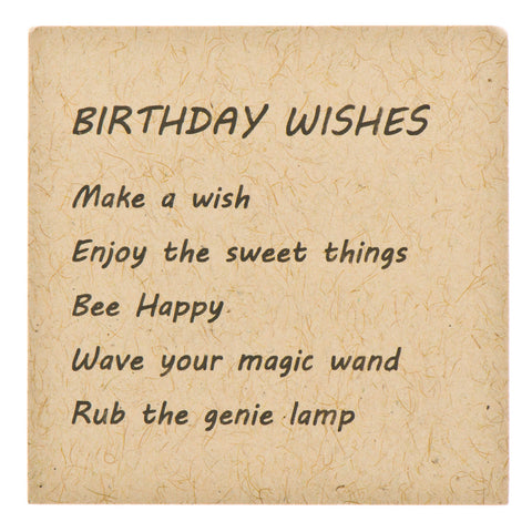 Birthday Wishes Pewter Charms