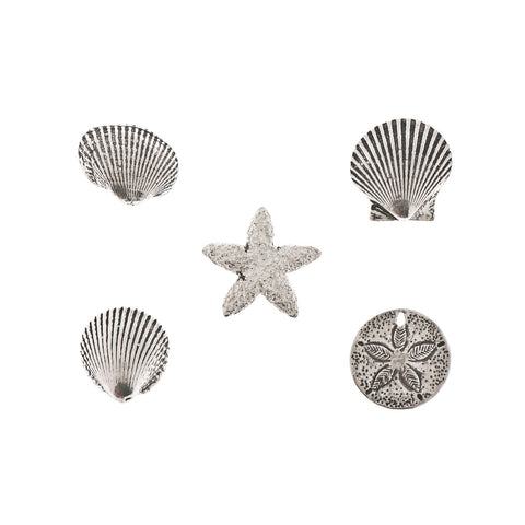Seashell Reminder Pewter Charms