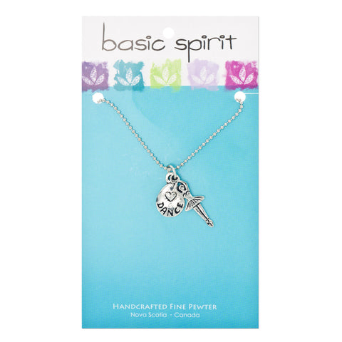 Ballerina Dance Double Pendant Charm Necklace